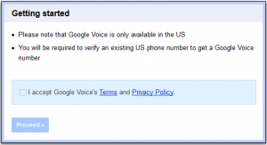Google Voice USA, United States GV number, Setting up GVoice